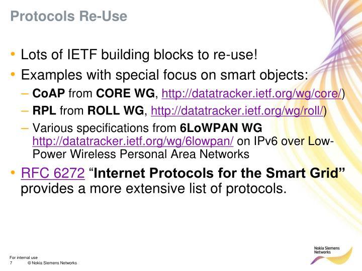 Protocols Re-Use