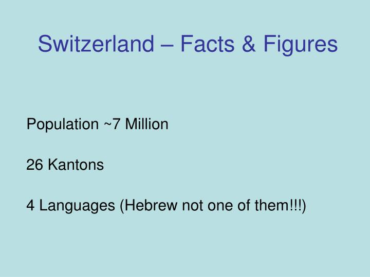 Switzerland facts figures