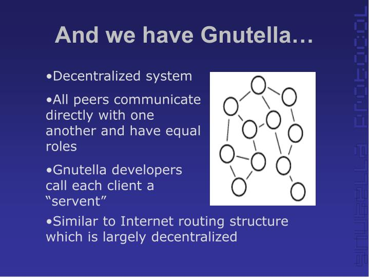 And we have Gnutella…