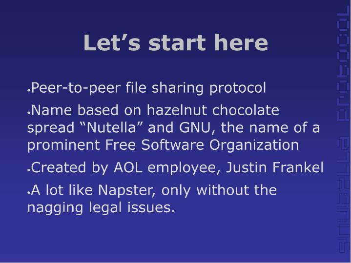 Peer-to-peer file sharing protocol