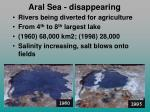 aral sea disappearing