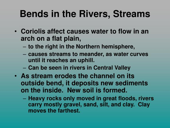 Bends in the Rivers, Streams