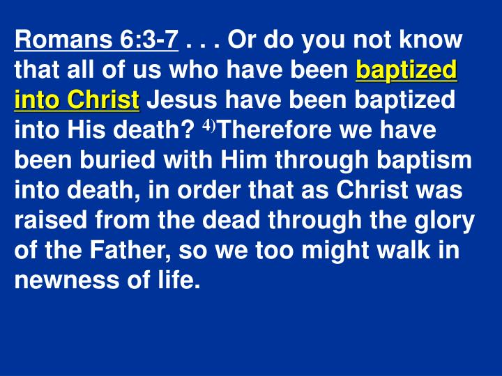 Romans 6:3-7