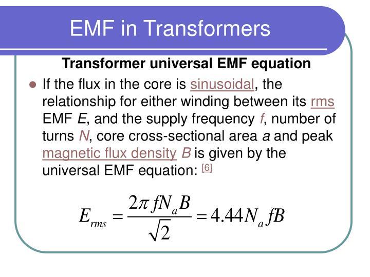 EMF in Transformers