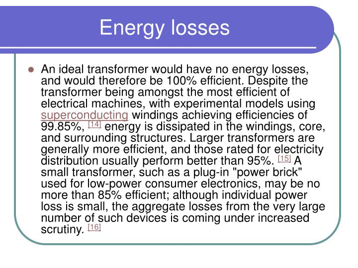 Energy losses