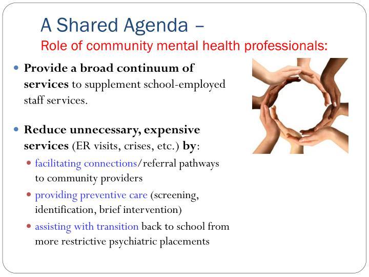 A Shared Agenda –