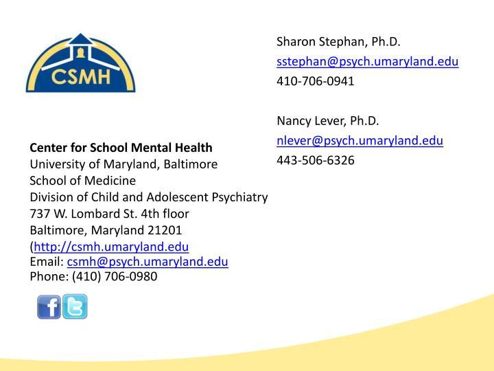 Sharon Stephan, Ph.D.