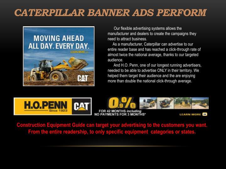 Caterpillar banner ads perform