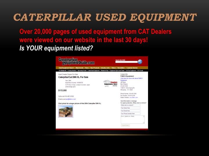 Caterpillar Used Equipment