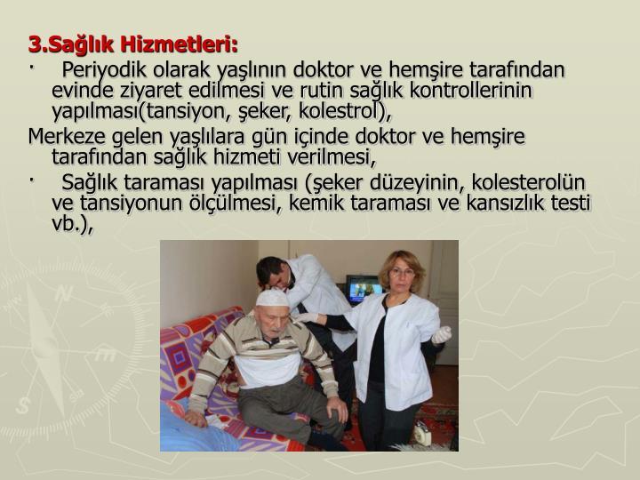3.Sağlık Hizmetleri: