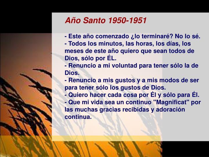 Año Santo 1950-1951