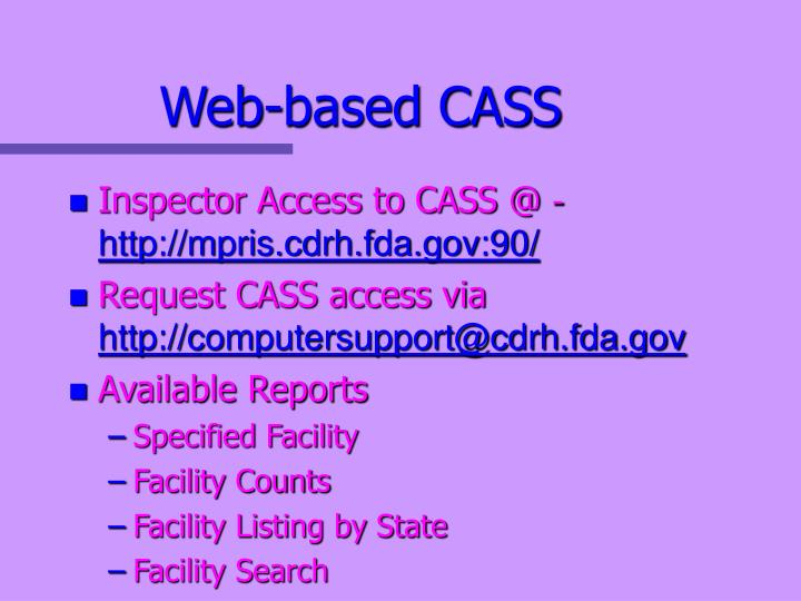 Web-based CASS