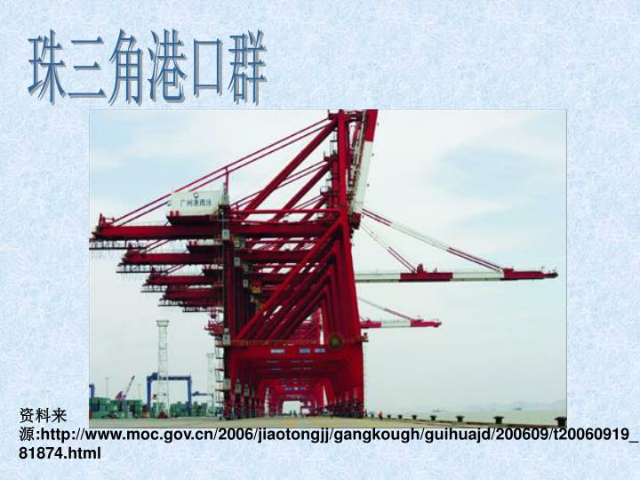 珠三角港口群