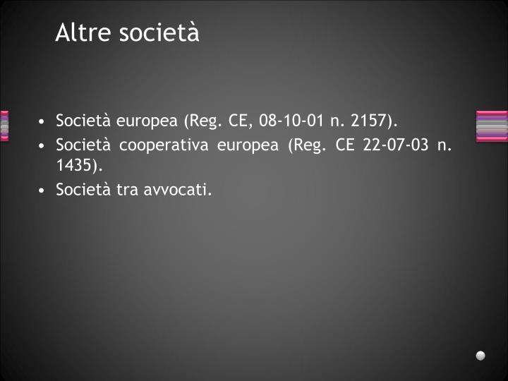 Altre società