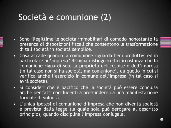 Società e comunione (2)