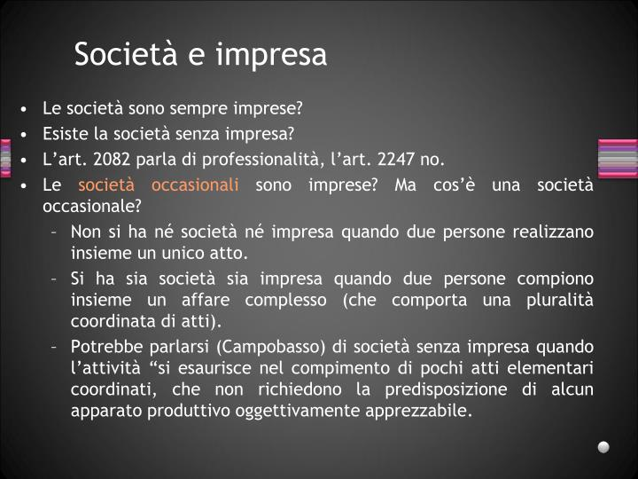 Società e impresa