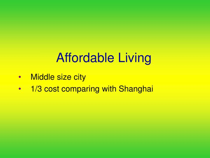 Affordable Living