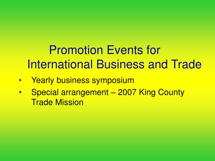 Promotion Events for