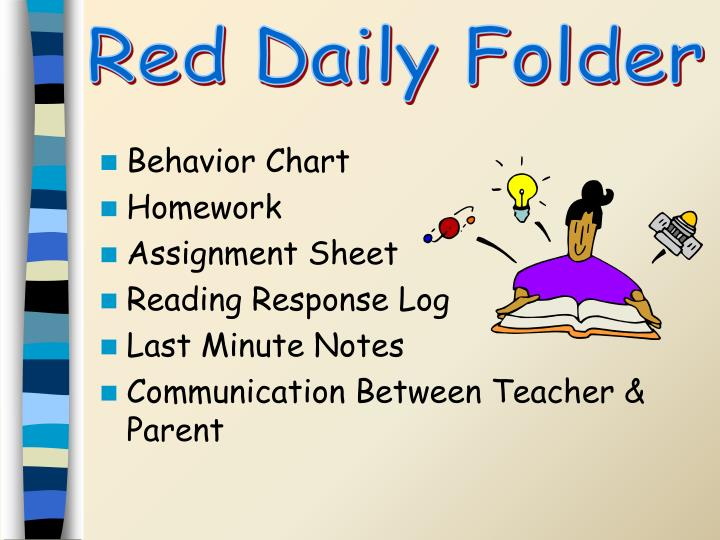 Red Daily Folder