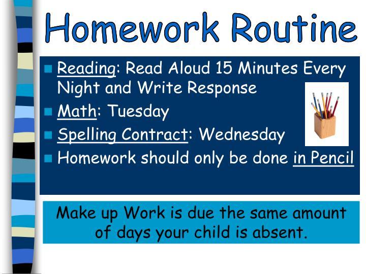 Homework Routine