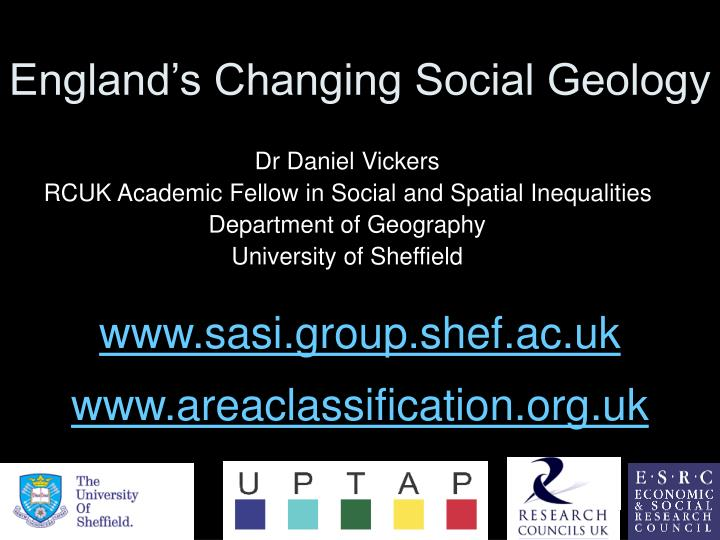 England s changing social geology