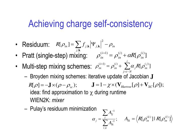 Achieving charge self-consistency