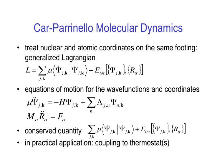 Car-Parrinello Molecular Dynamics