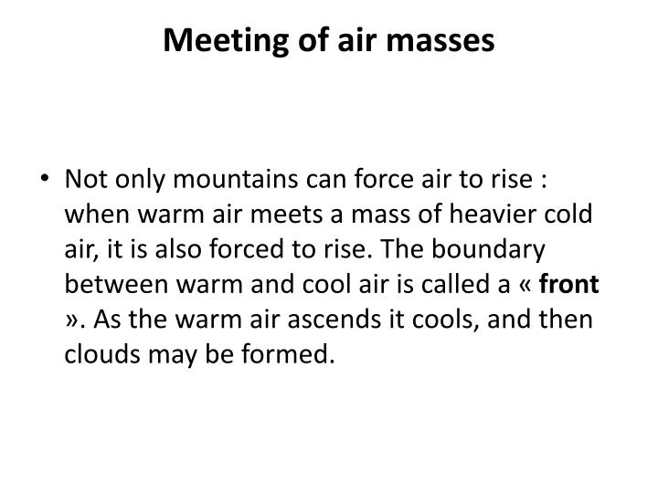 Meeting of air masses