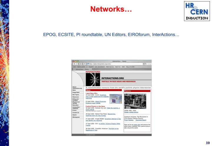 Networks…
