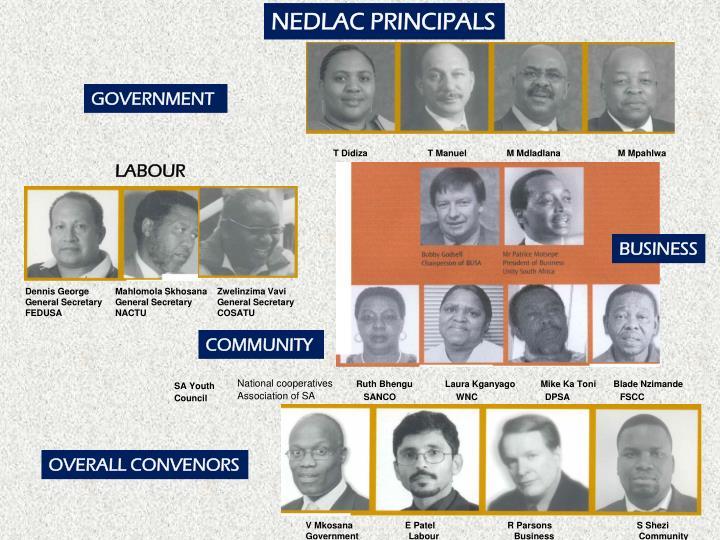 NEDLAC PRINCIPALS
