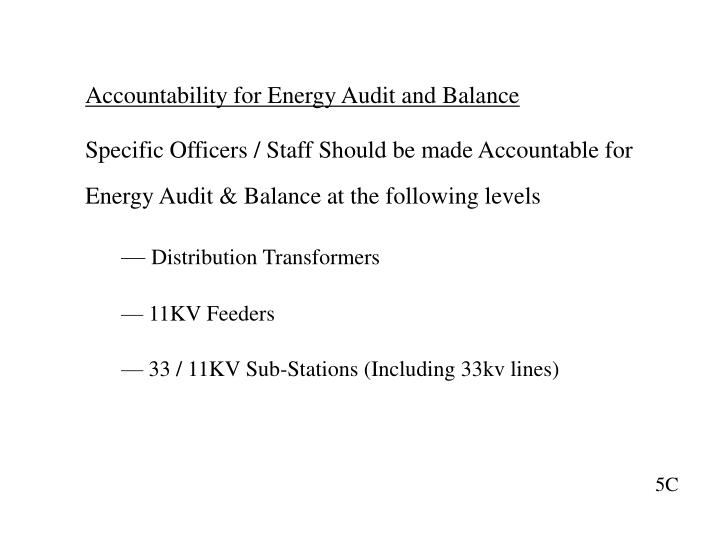 Accountability for Energy Audit and Balance