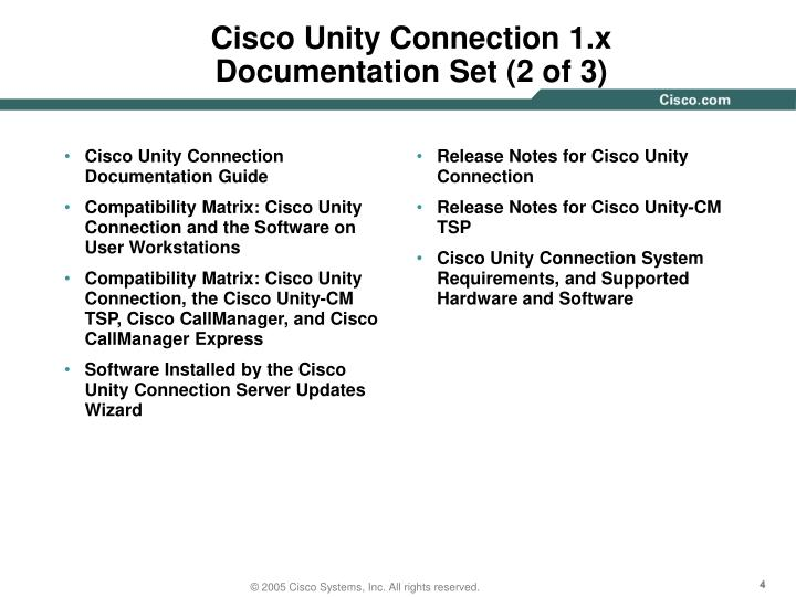 Cisco Unity Connection Documentation Guide