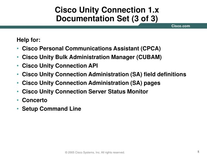 Cisco Unity Connection 1.x