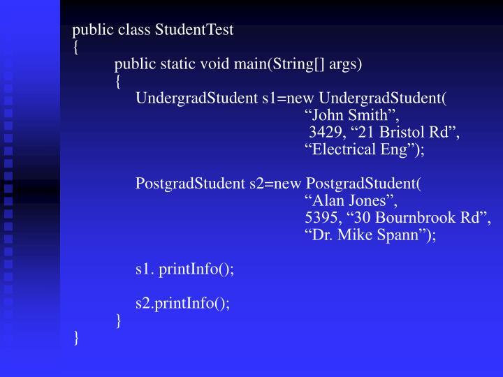 public class