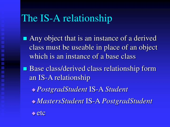 The IS-A relationship