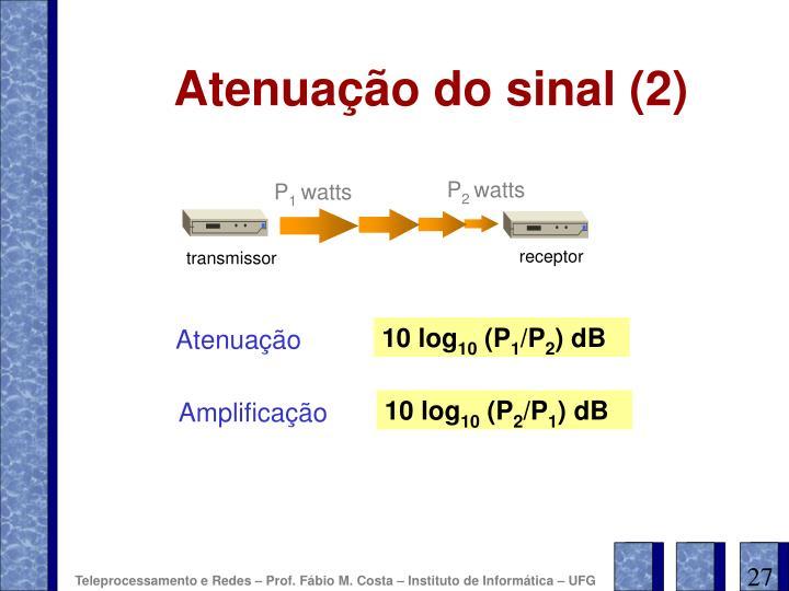 Atenuação do sinal (2)