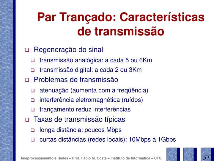 Par Trançado: Características de transmissão
