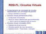 rdsi fl circuitos virtuais