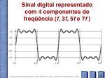 sinal digital representado com 4 componentes de freq ncia f 3 f 5 f e 7 f