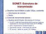 sonet estrutura de transmiss o