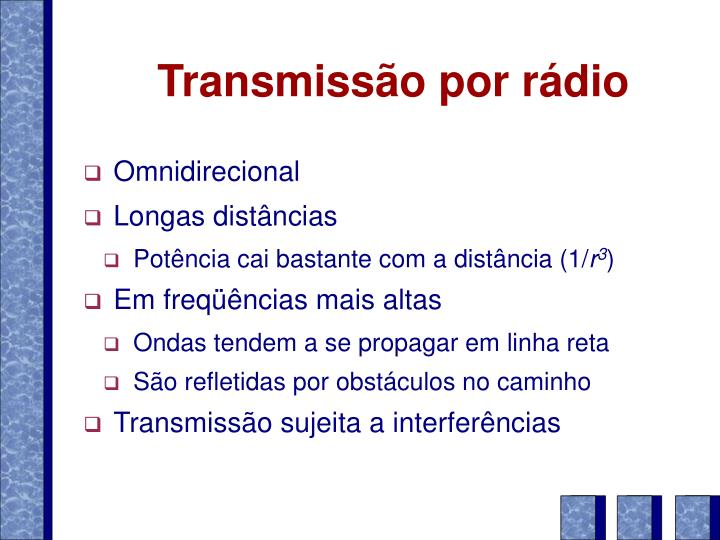 Transmissão por rádio