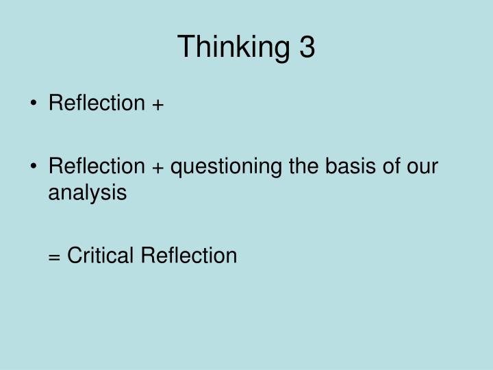 Thinking 3
