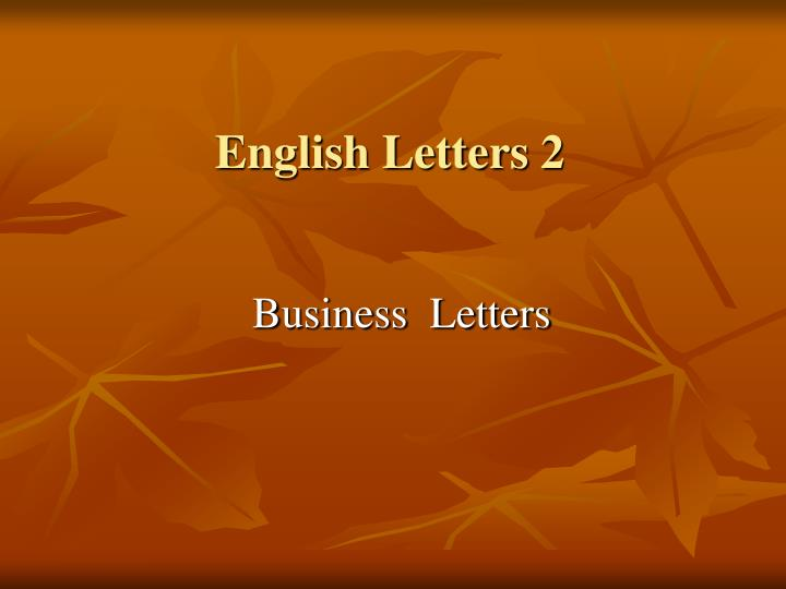 English letters 2