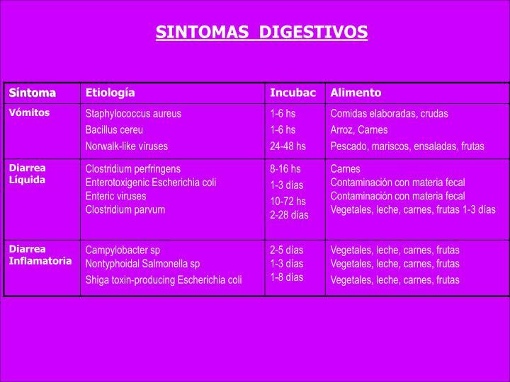 SINTOMAS  DIGESTIVOS