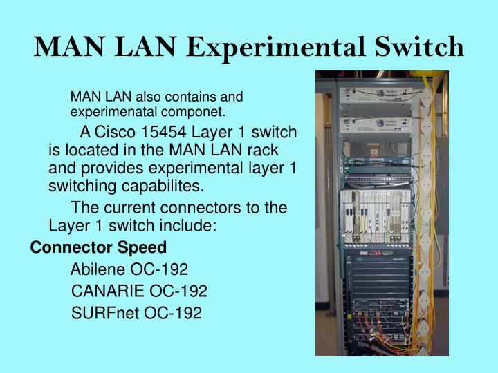 MAN LAN Experimental Switch