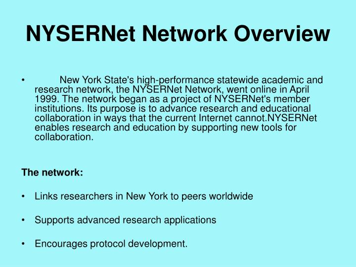 NYSERNet Network Overview