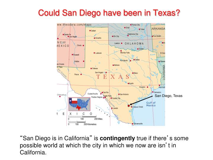 Could San Diego have been in Texas?