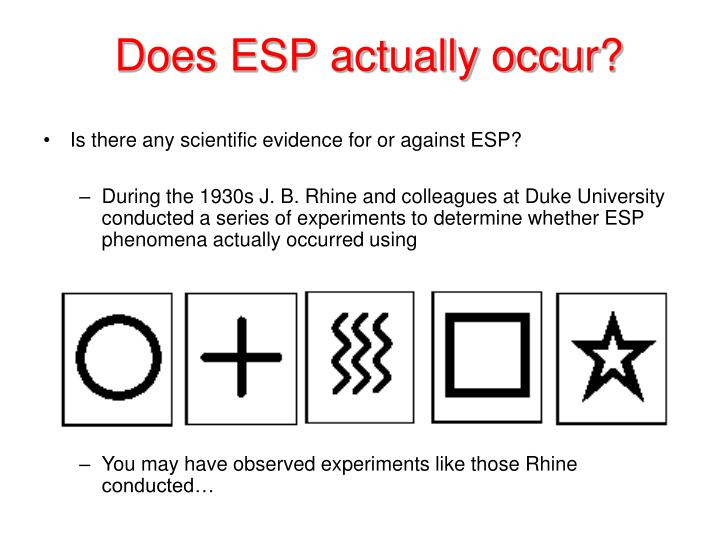 Does ESP actually occur?