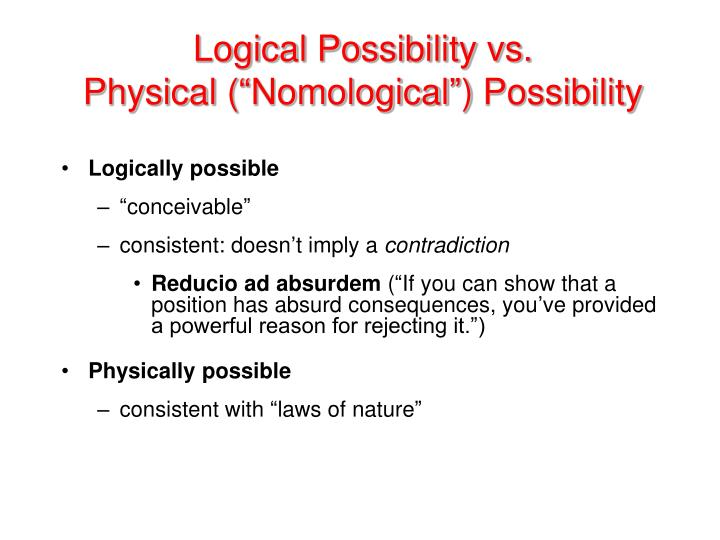 Logically possible