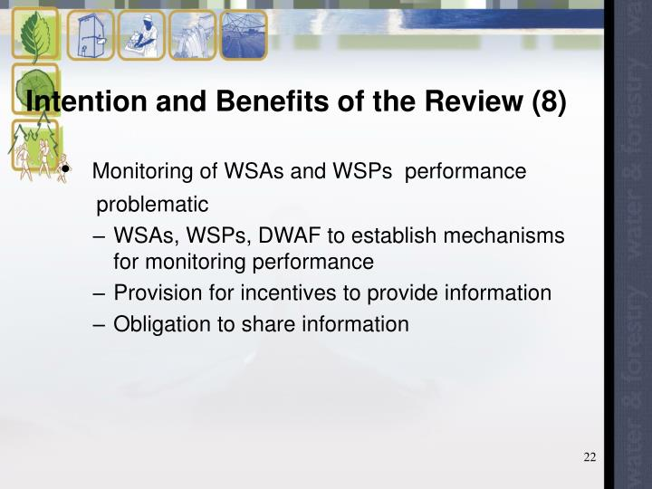 Intention and Benefits of the Review (8)